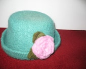 Special Order For Lynn Turquoise Felted Hat