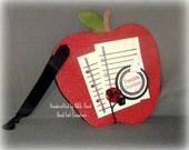 Teachers Apple Chipboard Wall Hanging -- Teachers Gift