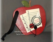 Apple for the Teacher -- Chipboard Wall Hanging -- Teachers Gift