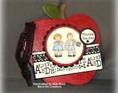 Teachers Apple Chipboard Wall Hanging -- Teachers Gift -- Teacher Thanks