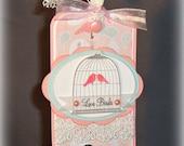 Love Birds -- Anniversary -- Wedding-- Bridal Shower -- Gift Tag --  Scrapbook or Card making Supplies