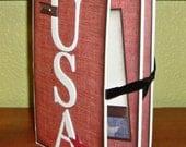 USA Accordion Chipboard Scrapbook -- Americana Accordion Scrapbook