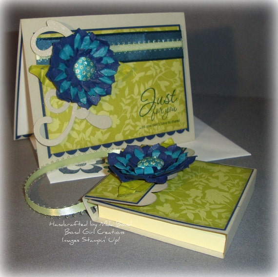 Flower Card and Post-it Note Matching Set