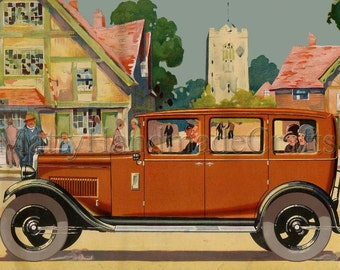 Austin Cars Vintage Advertising 1930s Print