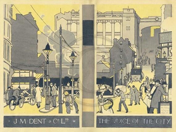 Birmingham UK, England, Voice Of The City, Lifestyle, Illustration, 1920s Print