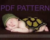 Turtle Body Hat PDF Crochet Pattern