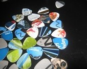 unique picks for your guitar ukelele mandolin made from recycled plastic - pack of 10