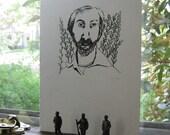 Walt Whitman gocco print