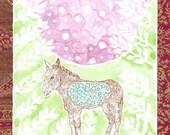 Star Bellied Burro (Leafy) gocco print