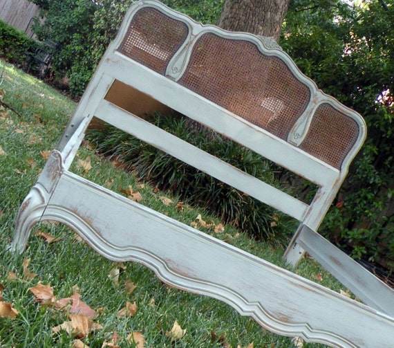 Painted French Provincial Vintage Cane Bed Pick Your Color