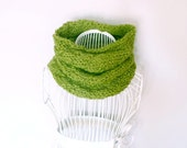 Knit Cowl, Cable Style, Wool Blend, Custom: Pick Your Color