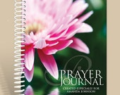 Journal / Notebook / Prayer Journal Personalized - Pink Waterlilly/