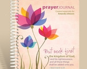 Mothers Day SALE •• Spring Flowers (Pink) / Journal Notebook / Matthew 6:33