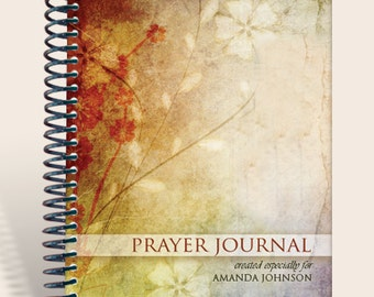 Journal / Notebook / Prayer Journal Personalized - Rustic Flowers/