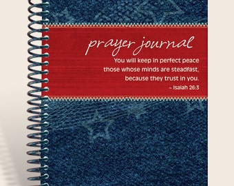 Personalized Notebook / Prayer Journal - Hometown Girl - Isaiah 26:3/
