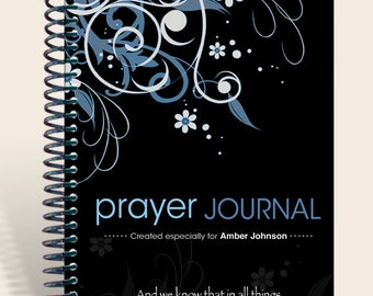 Personalized Gift / Notebook / Prayer Journal Personalized - Oriental Flair Romans 8:28/