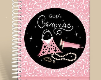 Christian Gift / Prayer Journal Personalized - God's Princess - 1 Peter 3:4/