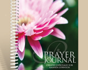 Journal / Notebook / Prayer Journal Personalized - Pink Waterlilly/