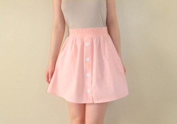 Summer Peach Skirt Full Short Skirt Small