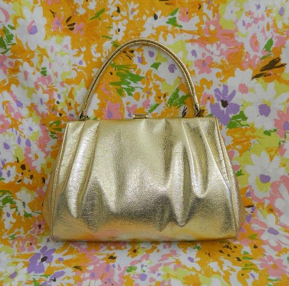 RESERVED Vintage Gold Handbag