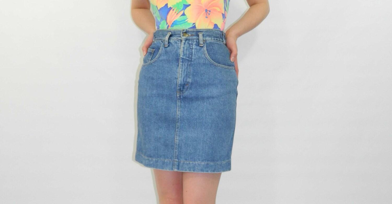 Blue Jean Mini Skirt 46