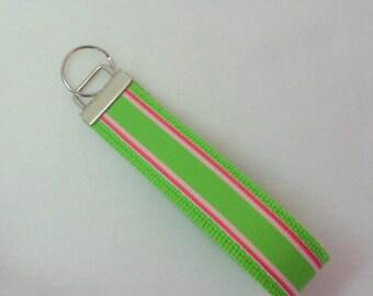 Green Key Fob , Wristlet Key Ring , Wristlet Key Fob for Women