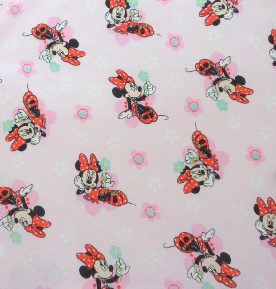Minnie Mouse Cotton Fabric, by the Yard