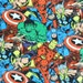 Superhero Fabric , Comic Pack Marvel Comics , the Hulk , Spiderman Captain America