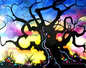Gnarled Tree- Original Painting-