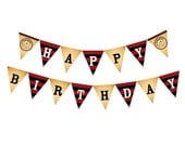 DIY Printable Argh Matey Pirate Birthday Banner