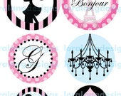 DIY Printable Vintage Glamour Girl Graduated Party Circles