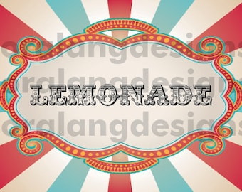 DIY Printable Vintage Carnival Circus Food Label