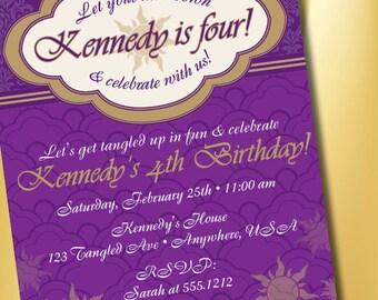 DIY Printable Tangled Inspired Birthday Party Invitation