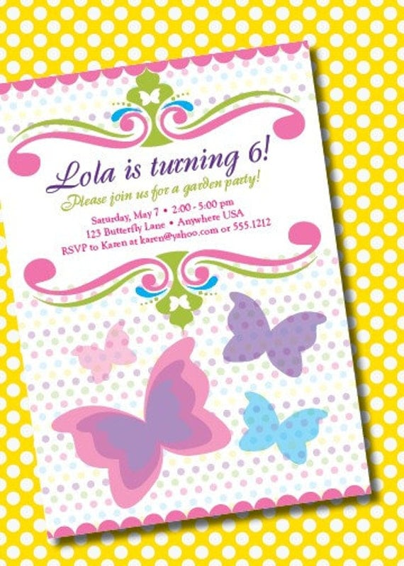 DIY Printable Butterfly Birthday Invitation - Butterfly birthday invitation images
