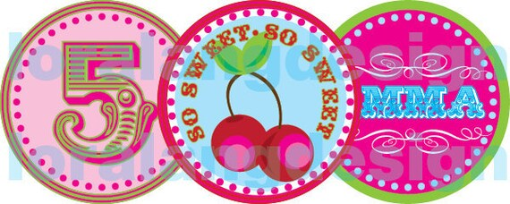 DIY Printable Pretty Please with a Cherry on Top Cupcake Toppers Favor Tags Party Circles