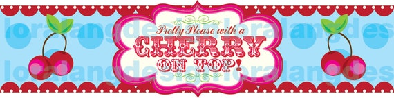 DIY Printable Pretty Please with a Cherry on Top Water Bottle Label