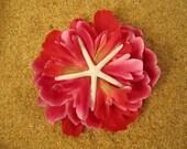 Starfish hair clip - Pink flower