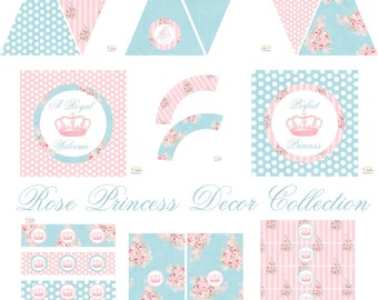 Shabby Chic Birthday, Shabby Chic Baby Shower, Princess Birthday Decorations, Princess Baby Shower Decorations, Princess Party Decorations