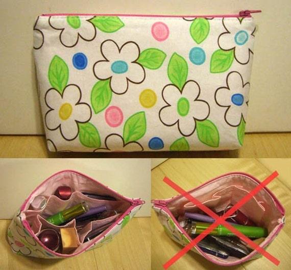 Makeup Bag with Build-in Organizer (Jasmine)