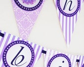PRINTABLE Banner - Perfectly Purple Gerber Daisy Collection