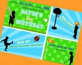 Football Baseball Basketball Invitation - Little All Star Sports Collection - Gwynn Wasson PRINTABLES