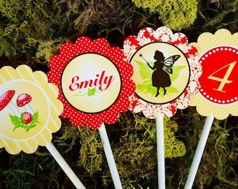 Fairy Cupcake Toppers Party Circles - Woodland Fairy Party Collection - As seen on Pizzazzerie - Gwynn Wasson PRINTABLES