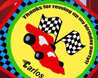 PRINTABLE Thank You Tag - Race Car Collection - Brights