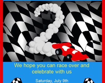 PRINTABLE Invitation - Race Car Collection - Brights