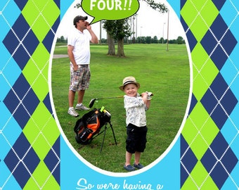 Golf Party Invitation - As Seen On Hostess WIth The Mostess - Gwynn Wasson Designs PRINTABLES