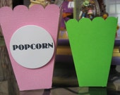 "12 Popcorn boxes - 5"" In the color of your Party - appropriate for all ages - baby showers - slumber parties - carnival theme"