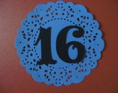 Royal Table numbers (1 through 10) die cuts paper numbers in the color of your choice