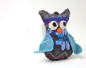 RESERVED for Kristin-- Custom Large Plush Owl made with upcycled wool sweaters