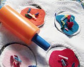 Sugar or Wheat Cookies, Dough, Sprinkles Frosting Eco set Play Felt Food Recycled Plastic Bottle Children Toy Upcycled  Boy or Girl Kitchen