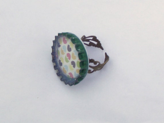 Ladies Ring Vintage, Filigree, Sale  Womens Bottlecap Steampunk Spring Eco Fashion Flower Recycled Upcycled Accessories